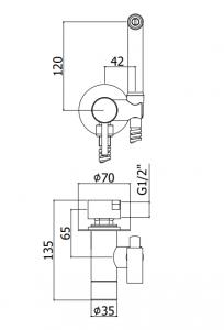 ALL IN ONE Incastrat - TECE + Cersanit Delphi  - Cu dus Igienic - Gata de montaj - Vas wc Suspendat Cersanit Delphi + Capac softclose + Rezervor TECE5