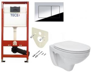 ALL IN ONE Incastrat - TECE + Cersanit Delphi - Gata de montaj - Vas wc Suspendat Cersanit Delphi + Capac softclose + Rezervor TECE0