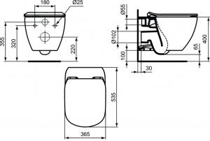ALL IN ONE Incastrat - TECE + Ideal Standard Tesi Aquablade + Paffoni - Cu dus Igienic - Gata de montaj - Vas wc Suspendat Ideal Standard Tesi Aquablade + Capac softclose + Rezervor TECE [7]