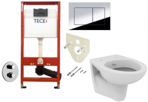 ALL IN ONE Incastrat - TECE + Paffoni cu termostat + Vas wc Suspendat Ideal Standard Eurovit - Cu functie de bideu - Gata de montaj - Vas wc Suspendat Ideal Standard Eurovit cu functie de bideu + Capa [0]