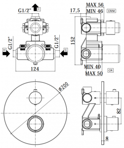 ALL IN ONE Incastrat - TECE + Paffoni cu termostat + Vas wc Suspendat Ideal Standard Eurovit - Cu functie de bideu - Gata de montaj - Vas wc Suspendat Ideal Standard Eurovit cu functie de bideu + Capa [8]