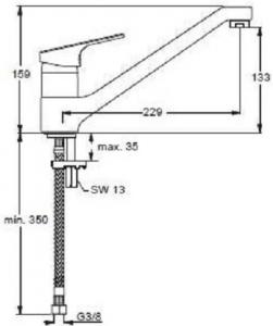 Baterie bucatarie Ideal Standard Slimline II [1]