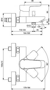 Baterie cada Ideal Standard Ceraplan III1