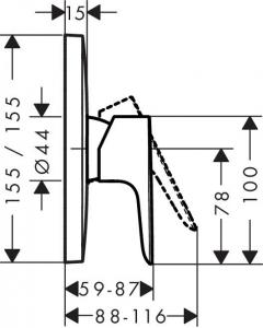 Baterie dus incastrata Hansgrohe Talis E - Model 1 [1]