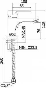 Baterie lavoar Paffoni BLU [3]