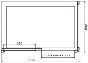 Cabina de dus dreptunghiulara Belform Clear 100x805