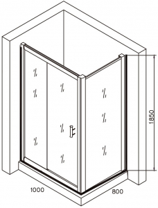 Cabina de dus dreptunghiulara Belform Clear 100x804