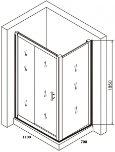 Cabina de dus dreptunghiulara Belform Clear 110x706