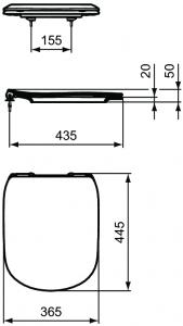 Capac WC Ideal Standard Tesi - Slim [1]