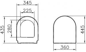 Capac WC Vitra S501