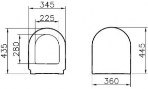 Capac WC Vitra S50 - Softclose [1]