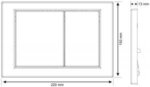 Clapeta actionare rezervor Cersanit Link - Model 1 Alb [1]