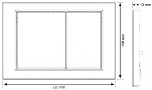 Clapeta actionare rezervor Cersanit Link - Model 1 Crom Mat [1]