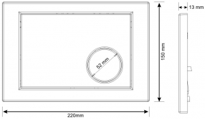 Clapeta actionare rezervor Cersanit Link - Model 2 Alb1