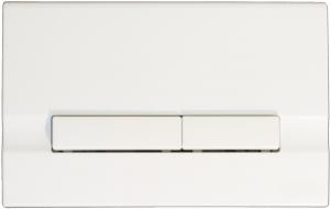 Clapeta actionare rezervor Cersanit Slim&Silent - Adria Alb0
