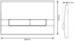 Clapeta actionare rezervor Cersanit Slim&Silent - Adria Crom mat1