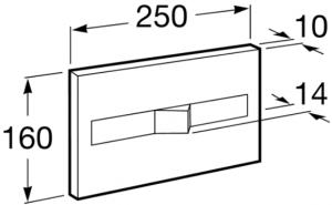 Clapeta actionare rezervor Roca - PL2 Dual Crom mat1