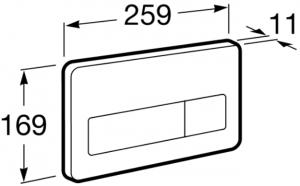 Clapeta actionare rezervor Roca - PL3 Antivandal Dual Otel polish1