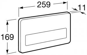 Clapeta actionare rezervor Roca - PL3 Antivandal Single Otel polish1