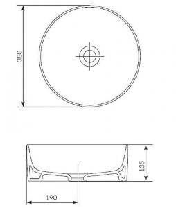 Lavoar Cersanit Crea 38 CM - pentru montaj pe blat3