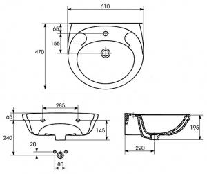 Lavoar Cersanit EKO 60 CM [2]