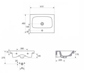 Lavoar Cersanit Moduo 60 CM3