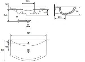 Lavoar Cersanit Omega 80 CM5