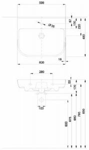 Lavoar Kolo Traffic 60 CM - Pentru montaj pe blat [5]