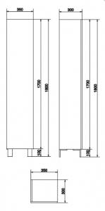 Mobilier Coloana Cersanit City - Stejar Argintiu4