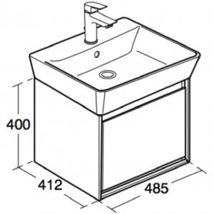 Mobilier Ideal Standard Connect Air pentru lavoar Ideal Standard Connect Air CUBE 55 - Gri lemn [5]