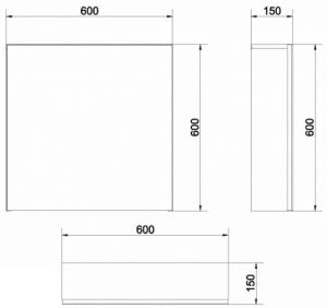 Mobilier Oglinda Cersanit Easy - Alb2