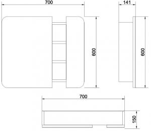 Mobilier Oglinda Cersanit Pure - Alb1