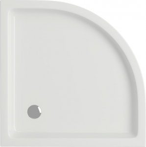 Pachet Complet - Cabina de dus semirotunda Cersanit Basic 80 x 80 + Cadita Cersanit Tako2