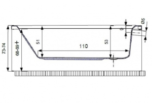 Pachet Complet - Cada Baie Acril Belform Magnus 160x115 + Cadru Metalic + Sifon Evacuare COLT DREAPTA4
