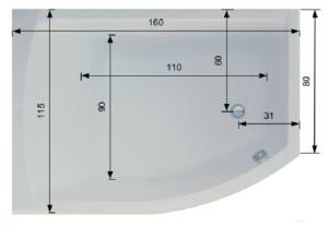 Pachet Complet - Cada Baie Acril Belform Magnus 160x115 + Cadru Metalic + Sifon Evacuare COLT DREAPTA5