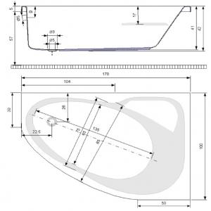 Pachet Complet - Cada Baie Acril Belform Mistika 170x100 COLT DREAPTA + Cadru Metalic + Masca Frontala + Sifon Evacuare [2]