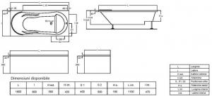 Pachet Complet - Cada Baie Acril Fibrocom Comodus 180x80 + Cadru Metalic + Masca Frontala + Sifon Evacuare [4]