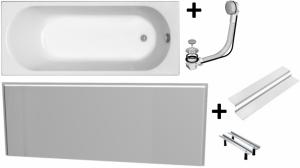 Pachet Complet - Cada Baie Acril Kolo Opal Plus 160x70 + Cadru Metalic + Masca Frontala MDF + Sifon Evacuare0