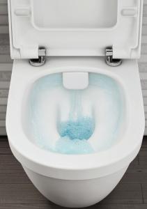 Pachet Complet Sistem WC cu Bideu Suspendat Vitra S50 RimEX - Gata de Montaj - Cadru fixare + Rezervor Ingropat, Clapeta Crom, Vas WC cu functie de bideu, Sistem complet baterie incastrata bideu si Ca10