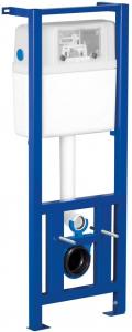 Pachet Complet Sistem WC Suspendat Cersanit Carina CLeanON - Gata de Montaj - Cadru fixare + Rezervor Ingropat, Clapeta Crom, Vas WC si Capac WC SoftClose4