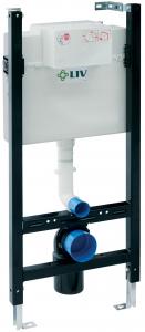 Pachet Complet Sistem WC Suspendat Cersanit Delphi - Gata de Montaj - Cadru fixare + Rezervor Ingropat, Clapeta Alba, Vas WC si Capac WC3
