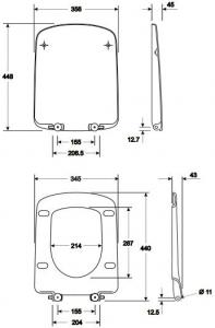 Pachet Complet Sistem WC Suspendat Geberit + Kolo Nova PRO Rimfree - Gata de Montaj - Cadru fixare + Rezervor Ingropat, Clapeta Crom, Vas WC si Capac WC  Softclose11