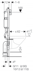 Pachet Complet Sistem WC Suspendat Geberit + Kolo Nova PRO Rimfree - Gata de Montaj - Cadru fixare + Rezervor Ingropat, Clapeta Crom, Vas WC si Capac WC  Softclose15