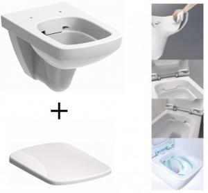 Pachet Complet Sistem WC Suspendat Geberit + Kolo Nova PRO Rimfree - Gata de Montaj - Cadru fixare + Rezervor Ingropat, Clapeta Crom, Vas WC si Capac WC  Softclose4