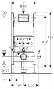 Pachet Complet Sistem WC Suspendat Geberit + Kolo Nova PRO Rimfree - Gata de Montaj - Cadru fixare + Rezervor Ingropat, Clapeta Crom, Vas WC si Capac WC  Softclose14