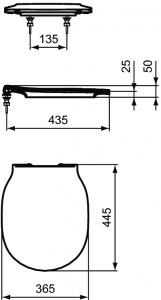 Pachet Complet Sistem WC Suspendat Ideal Standard Connect Air Aquablade - Gata de Montaj - Cadru fixare + Rezervor Ingropat, Clapeta Crom, Vas WC si Capac WC Softclose12
