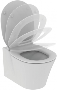 Pachet Complet Sistem WC Suspendat Ideal Standard Connect Air Aquablade - Gata de Montaj - Cadru fixare + Rezervor Ingropat, Clapeta Crom, Vas WC si Capac WC Softclose2