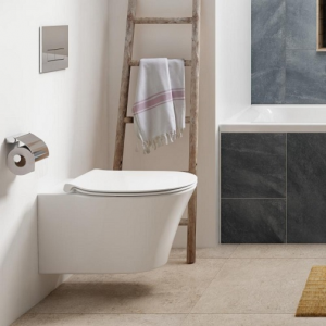 Pachet Complet Sistem WC Suspendat Ideal Standard Connect Air Aquablade - Gata de Montaj - Cadru fixare + Rezervor Ingropat, Clapeta Crom, Vas WC si Capac WC Softclose7