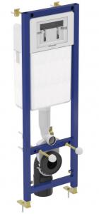Pachet Complet Sistem WC Suspendat Ideal Standard Connect Rimless - Gata de Montaj - Cadru fixare + Rezervor Ingropat, Clapeta Crom, Vas WC si Capac WC2