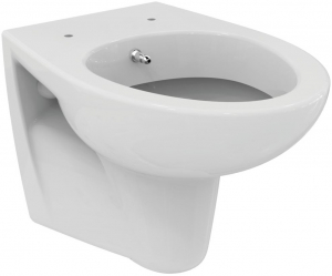Pachet Complet Sistem WC Suspendat Ideal Standard cu functie de bideu - Gata de Montaj - Cadru fixare + Rezervor Ingropat, Clapeta Crom, Vas WC, Baterie Incastrata si Capac WC1